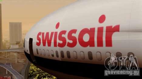 DC-10-30 Swissair для GTA San Andreas вид сзади