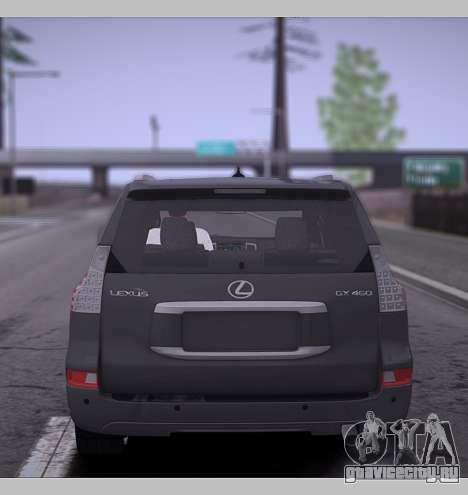 Lexus GX460 2014 для GTA San Andreas вид справа