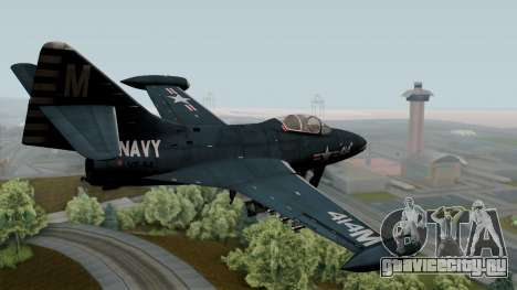 Grumman F9F-5 Phanter для GTA San Andreas вид слева