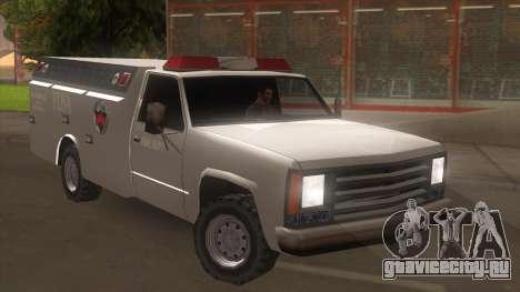 FDSA Fire Van для GTA San Andreas вид сзади слева