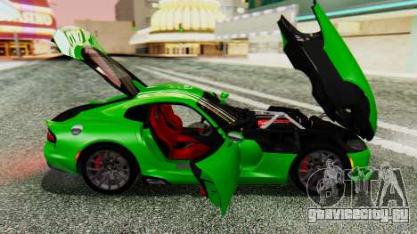Dodge Viper SRT GTS 2013 IVF (MQ PJ) No Dirt для GTA San Andreas вид сзади