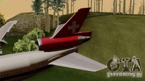 DC-10-30 Swissair для GTA San Andreas вид сзади слева