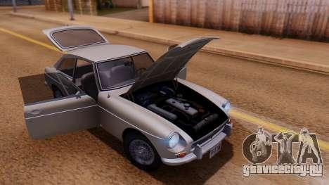 MGB GT (ADO23) 1965 IVF АПП для GTA San Andreas вид изнутри
