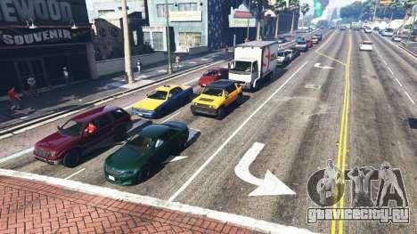 Реалистичное заполнение улиц и дорог 8GBRAM для GTA 5