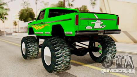 Monster New Texture для GTA San Andreas вид слева