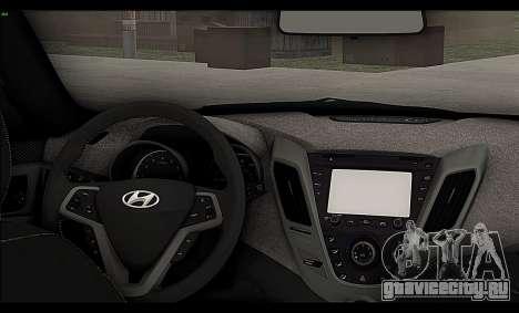 Hyundai Veloster 2012 для GTA San Andreas вид изнутри
