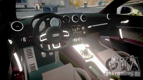 Audi TT RS 2010 Shelley для GTA 4 вид сзади