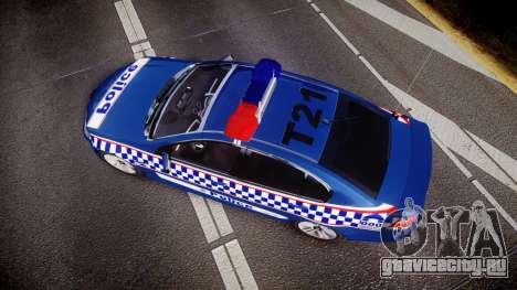 Holden VE Commodore SS Highway Patrol [ELS] v2.0 для GTA 4 вид справа