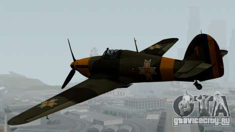 Hawker Hurricane Mk1 - Romania Nr. 1 для GTA San Andreas вид слева