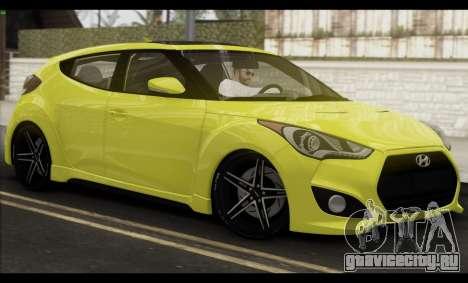 Hyundai Veloster 2012 для GTA San Andreas вид сверху