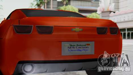 NFS Carbon Chevrolet Camaro IVF для GTA San Andreas вид справа