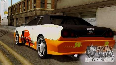 Винил для Elegy - Samurai Drifting для GTA San Andreas вид слева
