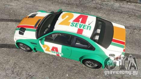 BMW M3 GTR E46 PJ3 для GTA 5 вид сзади