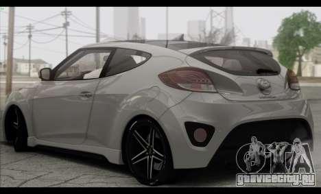Hyundai Veloster 2012 для GTA San Andreas вид справа