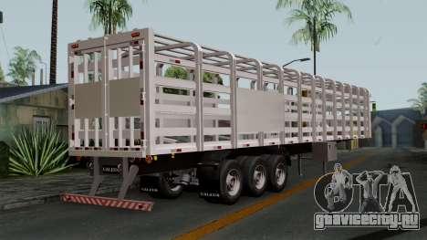 Trailer Rejas Gas для GTA San Andreas вид слева