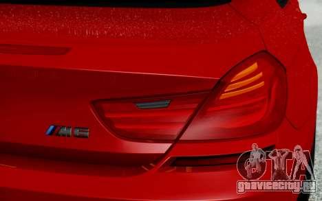 BMW M6 2013 v1.0 для GTA San Andreas вид сверху