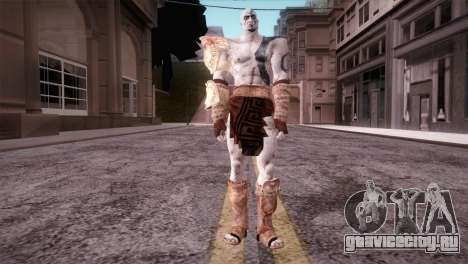 God Of War 3 Kratos Blue для GTA San Andreas второй скриншот