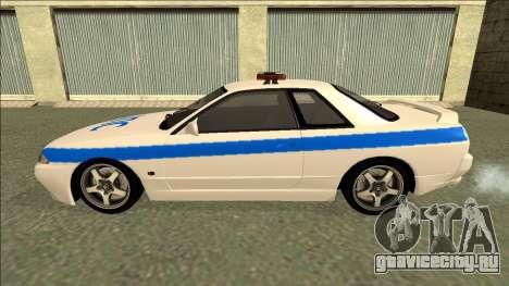 Nissan Skyline R32 Russian Police для GTA San Andreas салон