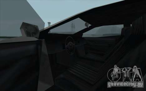 GTA 3 Infernus SA Style для GTA San Andreas вид изнутри