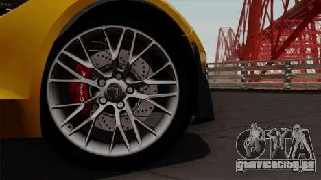 Chevrolet Corvette Z06 1.0.1 для GTA San Andreas вид справа