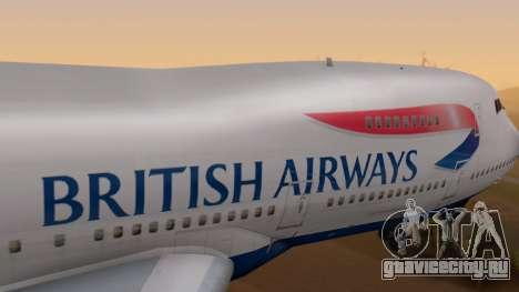 Boeing 747-200 British Airways для GTA San Andreas вид справа