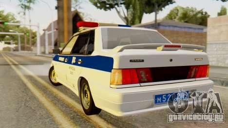 ВАЗ 2115 ДПС для GTA San Andreas вид слева