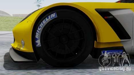 Chevrolet Corvette C7R GTE 2014 PJ1 для GTA San Andreas вид сзади слева