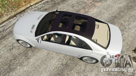 Mercedes-Benz S500 W221 v0.3 [Alpha] для GTA 5 вид сзади