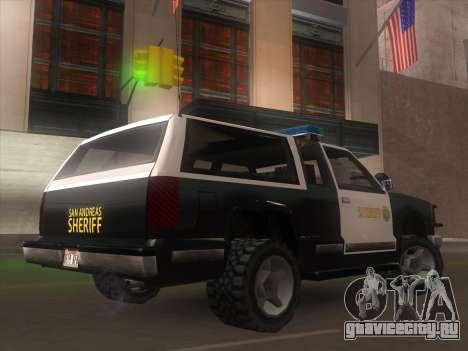 Yosemite Police 2015 для GTA San Andreas вид слева