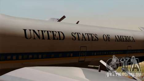 Boeing 747 Air Force One для GTA San Andreas вид сзади
