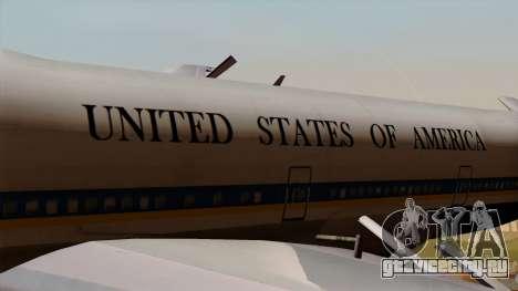 Boeing 747 Air Force One для GTA San Andreas вид сзади