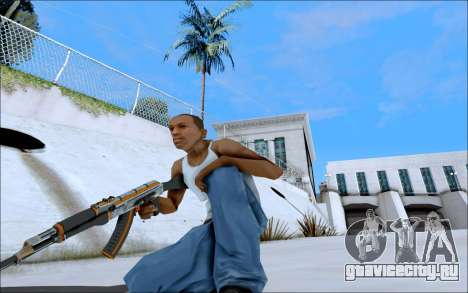 AK-47 Carbone Edition для GTA San Andreas четвёртый скриншот