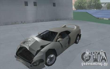 GTA 3 Infernus SA Style для GTA San Andreas вид сзади слева