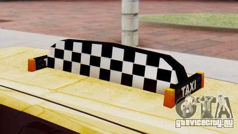 Landstalker Taxi SR 4 Style Flatshadow для GTA San Andreas вид справа