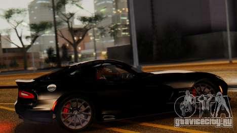 Dodge Viper SRT GTS 2013 IVF (MQ PJ) LQ Dirt для GTA San Andreas вид слева