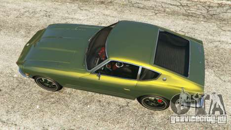 Datsun 240Z для GTA 5 вид сзади