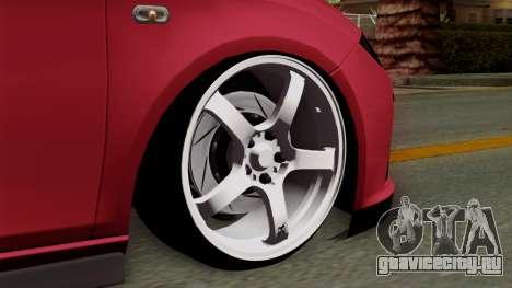 Seat Leon Cupra Static для GTA San Andreas вид сзади слева