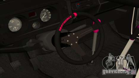 ВАЗ 2105 БК v2.0 для GTA San Andreas вид изнутри
