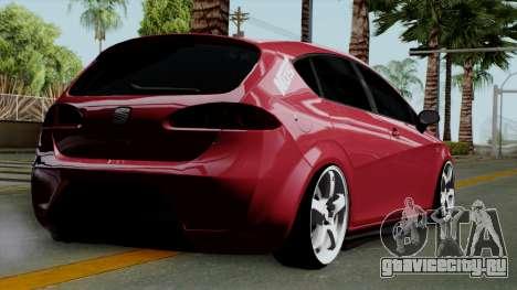 Seat Leon Cupra Static для GTA San Andreas вид слева