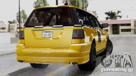 Vapid Landstalker Taxi SR 4 Style Flatshadow для GTA San Andreas вид слева