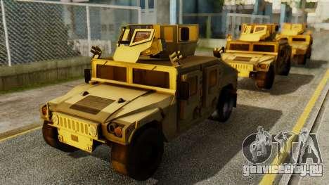 PR BF2 US Army UpArmored Humvee Armed with MK19 для GTA San Andreas