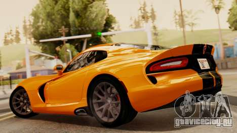 Dodge Viper SRT GTS 2013 IVF (HQ PJ) No Dirt для GTA San Andreas вид слева