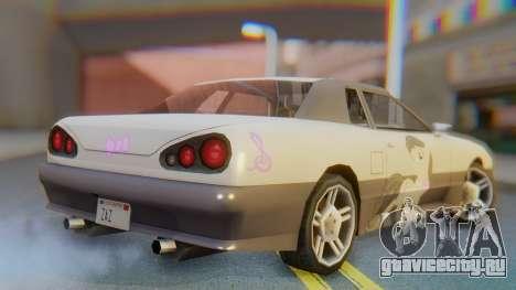 Elegy Octavia Pony Vinyl для GTA San Andreas вид слева