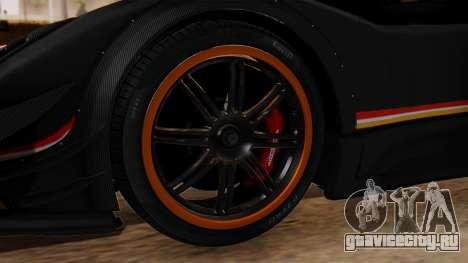 Pagani Zonda Revolucion 2015 для GTA San Andreas вид сзади слева