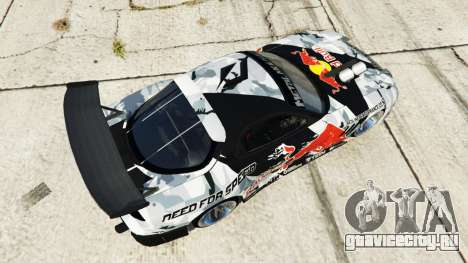 Mazda RX-7 MadMike для GTA 5 вид сзади