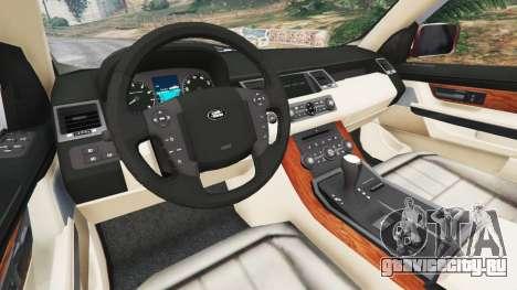 Range Rover Sport 2010 v0.7 [Beta] для GTA 5 вид сзади справа