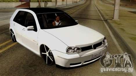 Volkswagen Golf 2004 Edit для GTA San Andreas вид изнутри