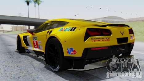 Chevrolet Corvette C7R GTE 2014 PJ1 для GTA San Andreas вид слева