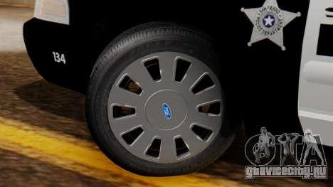 Police SF 2013 для GTA San Andreas вид сзади слева