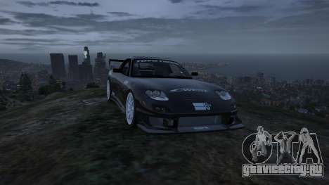 Mazda RX7 C-West 0.2 для GTA 5 вид сзади